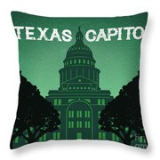 Texas Capitol Throw Pillow