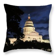Texas State Capital Dawn Panorama Throw Pillow