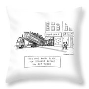 That Good Bagel Place Throw Pillow