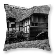 Thatched Watermill 2 Throw Pillow