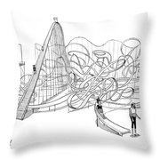 The 30-year Slide Throw Pillow