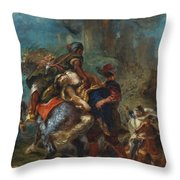 The Abduction Of Rebecca  Throw Pillow
