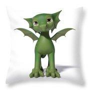 The Adorable Dragon  Throw Pillow