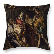The Adoration Of The Shepherds     Throw Pillow