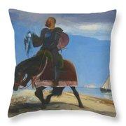 The Adventurer 1882 Throw Pillow
