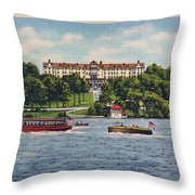The Alamac Or Breslin Hotel Throw Pillow by Mark Miller