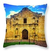 The Alamo Mission Throw Pillow
