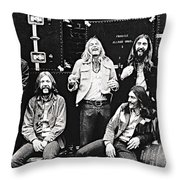 The Allman Brothers Band Throw Pillow