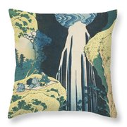 The Amida Waterfall In The Province Of Kiso  Throw Pillow