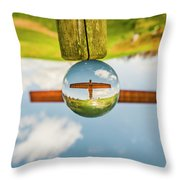 The Angel Of The North. Throw Pillow