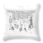 The Annual Mortification Of The Canines Throw Pillow