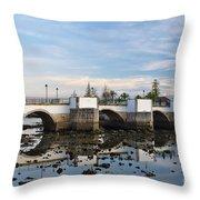 The Antique Bridge Of Tavira. Portugal Throw Pillow