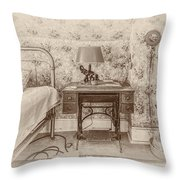 The Antique Sewing Machine Throw Pillow