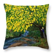 The Artistic Spirit Of Judy Doggett Walker In Blackley Forest Throw Pillow