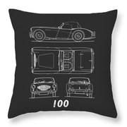The Austin-healey 100 Throw Pillow