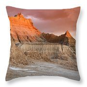 The Badlands With Another Sunrise Throw Pillow