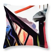 The Bannister Throw Pillow