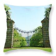 The Bear Gates At Traquair Throw Pillow