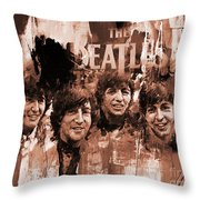 The Beatles Art  Throw Pillow
