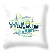 The Beatles - Come Together Lyrical Cloud Throw Pillow