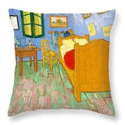 The Bedroom At Arles - Digital Remastered Edition Throw Pillow