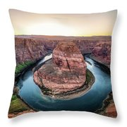 The Bend - Horseshoe Bend At Sunset In Arizona Throw Pillow