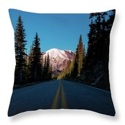 The Best Roads Lead To Rainier Throw Pillow