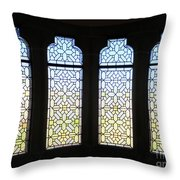 The Bishop's Windows Throw Pillow by Rick Locke
