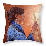 The Black Hmong Princess Throw Pillow
