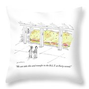 The Blt At Forty Second Throw Pillow