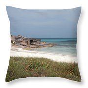 The Boathouse And The Beach Throw Pillow