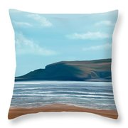 The British Seaside Throw Pillow by Mark Taylor