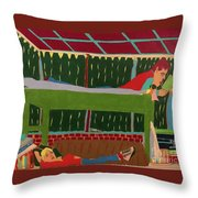 The Bunk Throw Pillow by John Wiegand