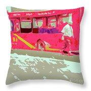 The Bus Throw Pillow