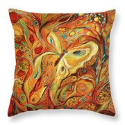 The Butterfly And Pomegranates Throw Pillow