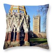 The Buxton Memorial Fountain London Throw Pillow