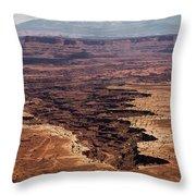 The Canyon Floor Below - 2 Throw Pillow