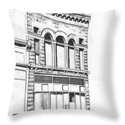 The Capital Transfer And Sands Brothers Building Helena Montana Throw Pillow
