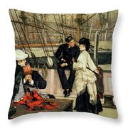 The Captain And The Mate, 1873 Throw Pillow