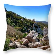 The Castle Of Moors Throw Pillow