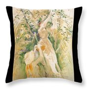 The Cherry Tree Study - 1891 - Musee Marmottan France Throw Pillow
