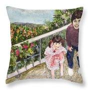 The Childrens Garden Throw Pillow