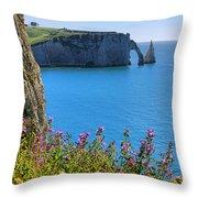 The Cliffs Of Etretat Throw Pillow