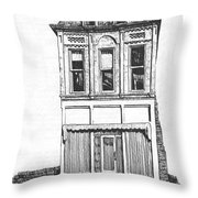 The Colwell Building Helena Montana Throw Pillow