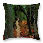 The Company Of Trees Throw Pillow