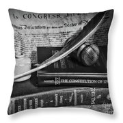 The Constitutional Lawyer In Black And White Throw Pillow