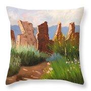 The Courtyard Throw Pillow