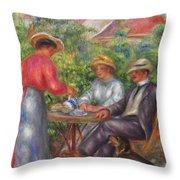 The Cup Of Tea, Or The Garden Throw Pillow