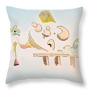 The Dawn Of Thought Throw Pillow