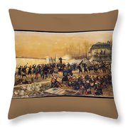 The Defense Of Champigny  Throw Pillow